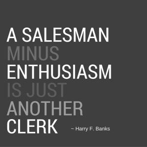 salesman minus enthusiasm